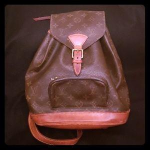 Authentic Louis Vuitton MM Montsouris Backpack
